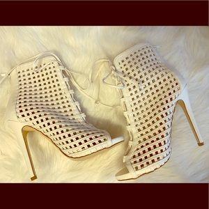 Caged stiletto heels